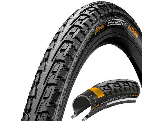 Continental Ride Tour Tyre 26 x 1 1/2 x 2, wire bead black/black